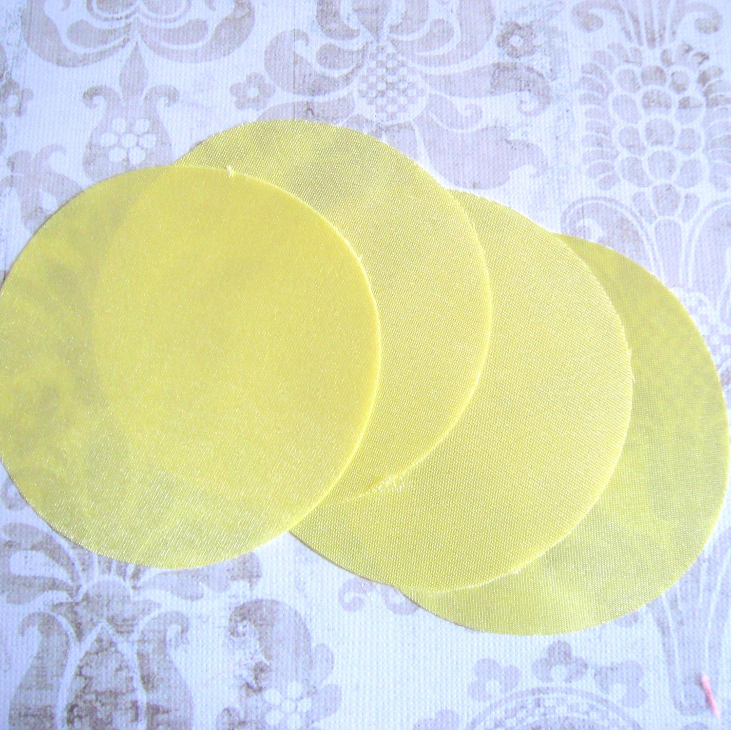 30 pcs 3 inches Yellow Satin