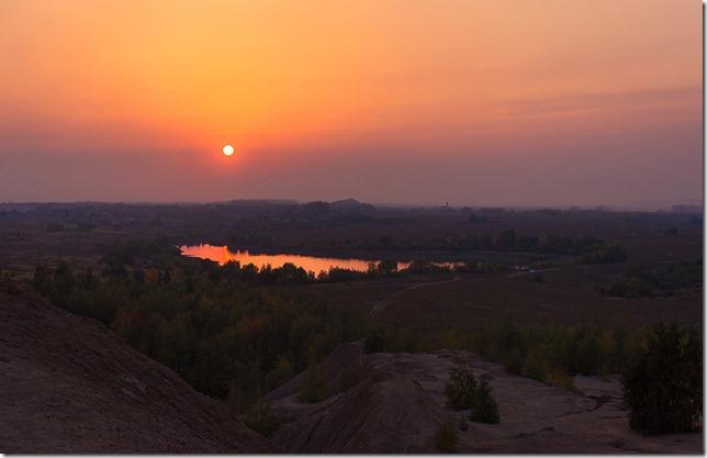 закаты в Романцевских горах (Романцевские карьеры), Кондуки, Тульская область