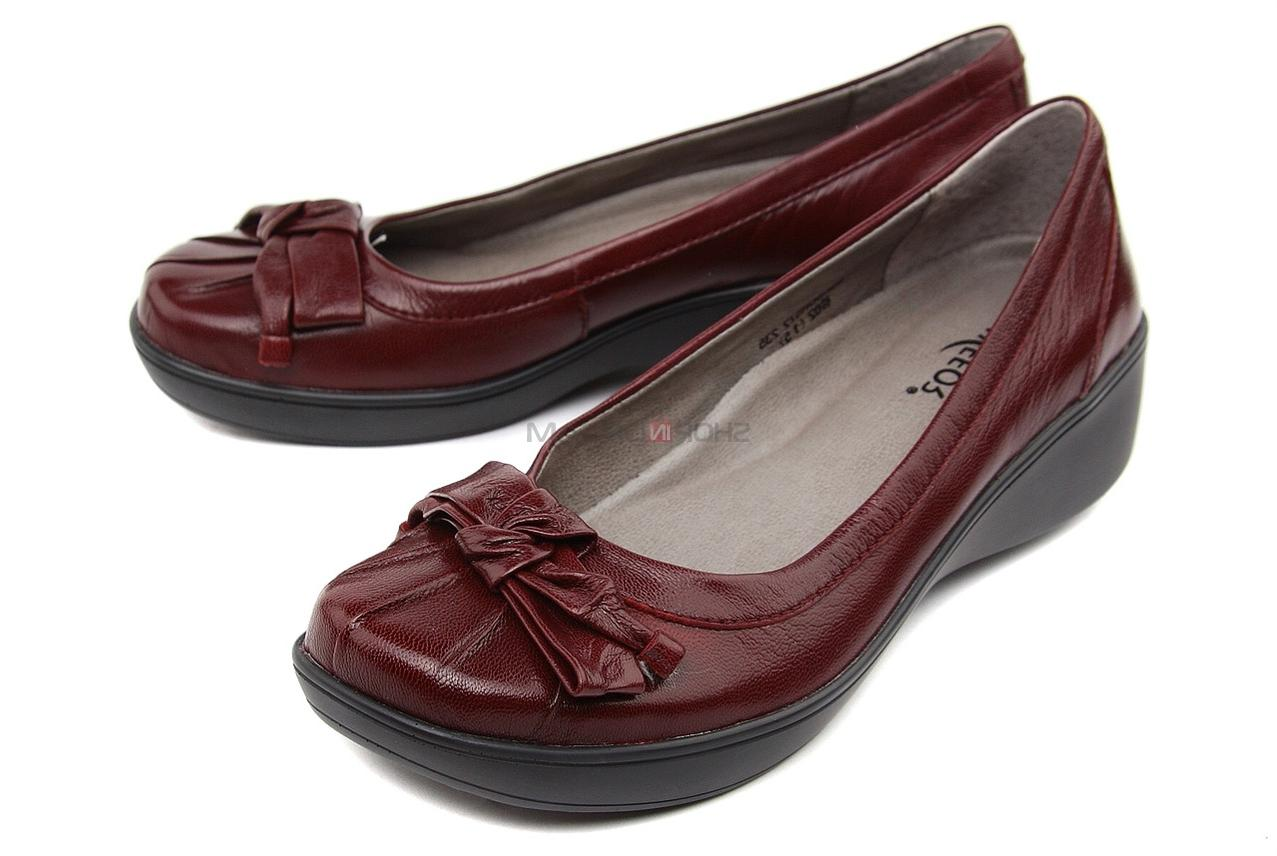 Go Back ProductSheepskin red bow low heeled ballerina shoes