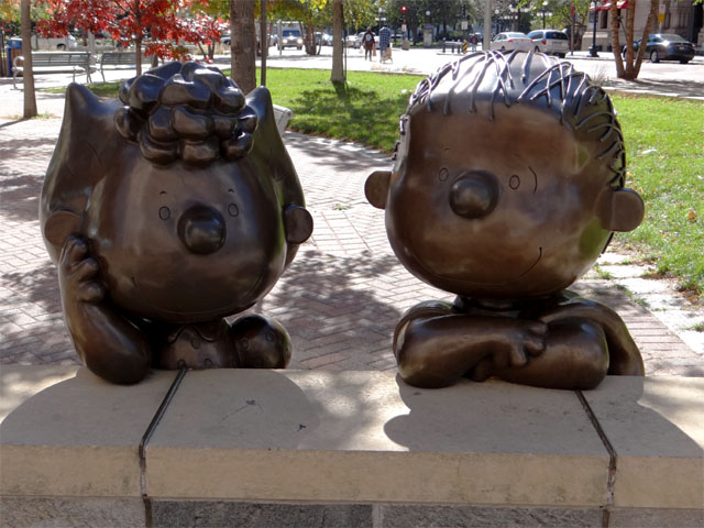 'Peanuts' sculpture; downtown Saint Paul