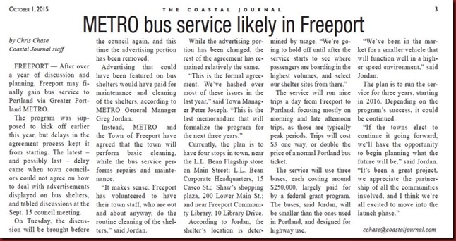 CJ Freeport Metro Bus Oct 15