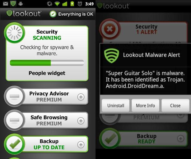 Image result for تطبيق Lookout