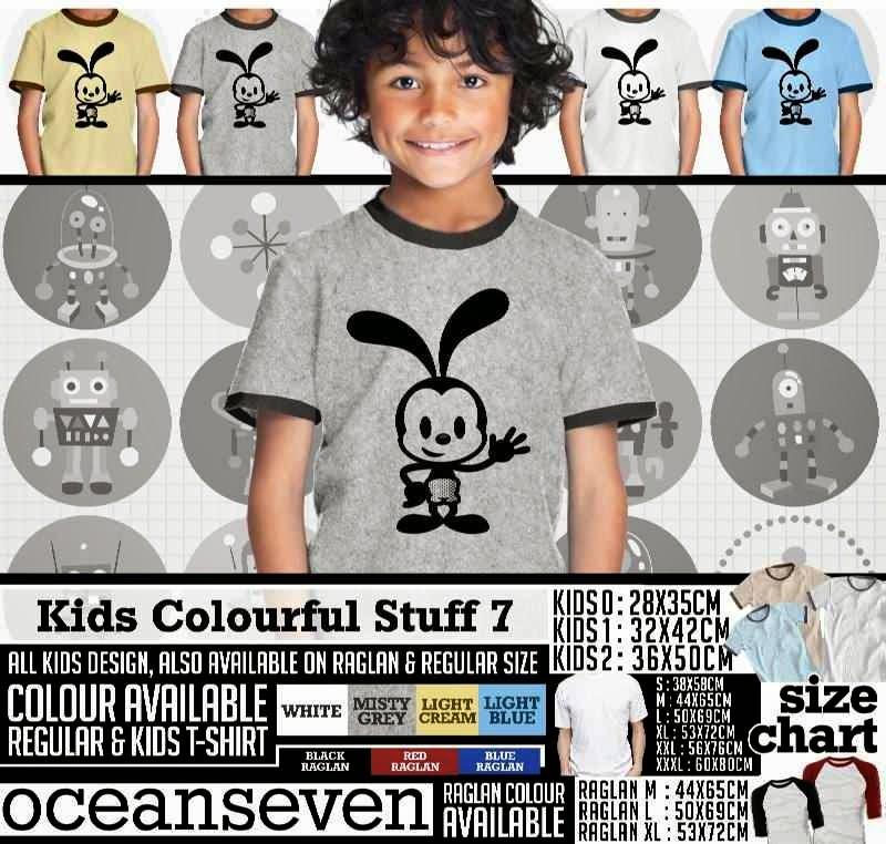 Kaos Kids Colourful 7 Lucu Anak Gambar Mickey Mouse distro ocean seven