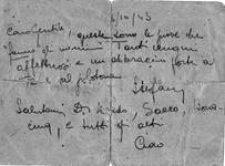 Cartolina a Gentile 6 ottobre 1943