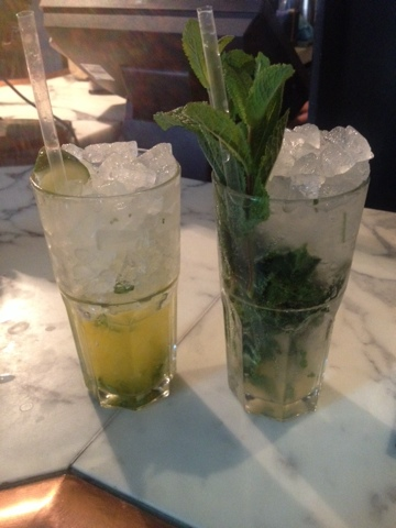 Virgin mojitos from Dishoom Shoreditch