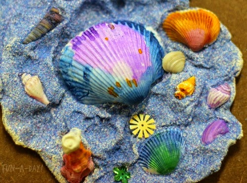 summer-art-for-kids-colorful-shell-sculptures-5