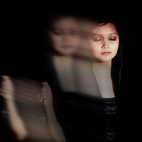 Movement by Hadinata Lim - People Portraits of Women ( gothic, movement, women, portrait, black )