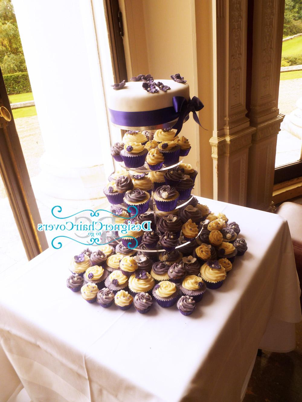 cup cake flower wedding cake