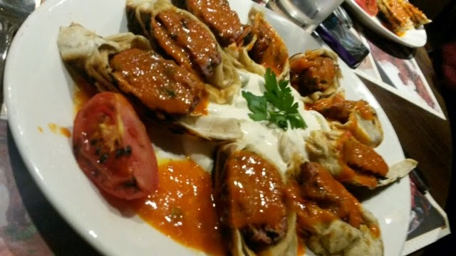 Sarma Betyi, or Turkish Chicken kebab with yoghurt