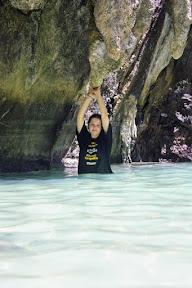 Jenny at Emerald Cave Lagoon
