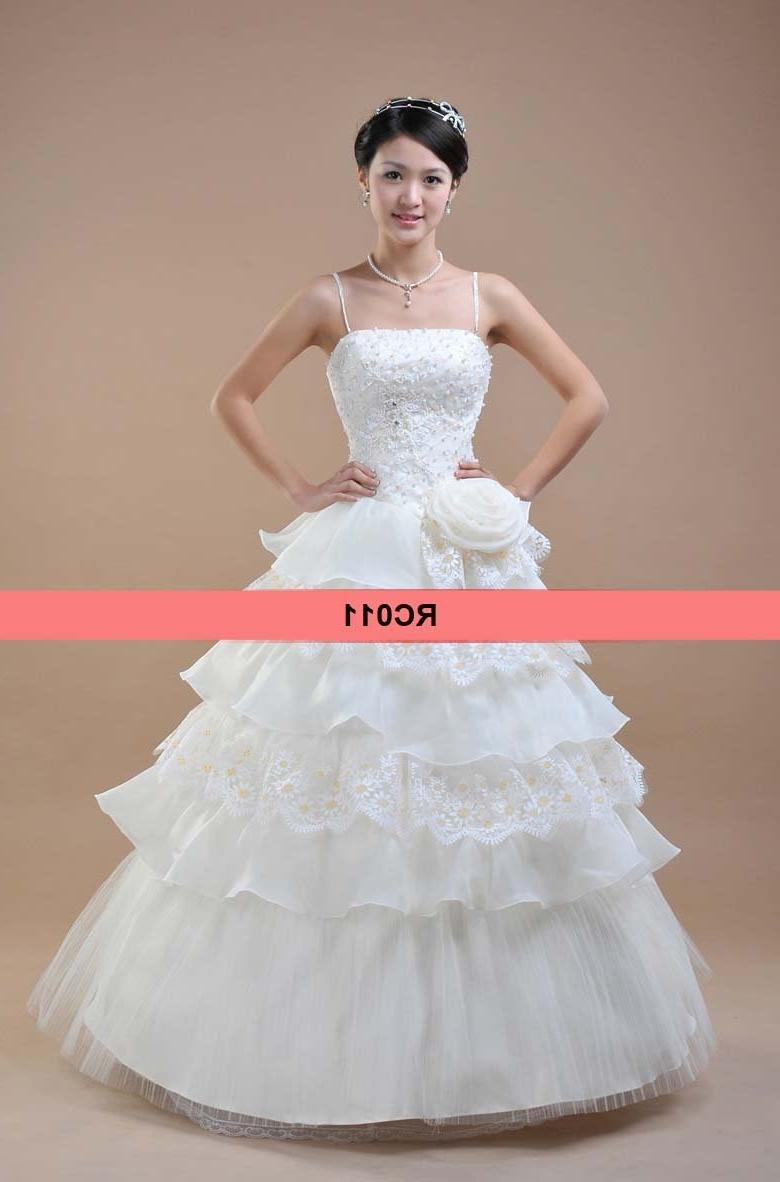 RC011 Elegant style white color China wedding dress ball gown