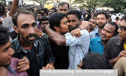 indian guy kiss