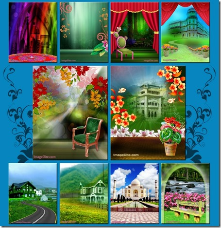indoor studio backgrounds psd