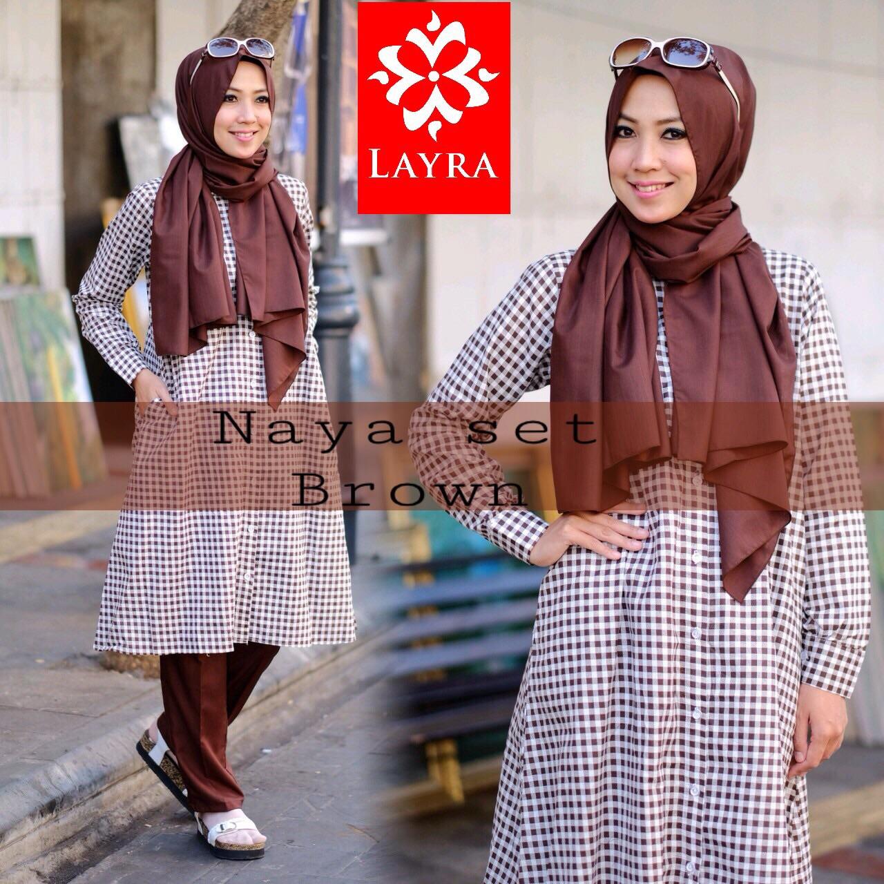 Gaun Muslimah Modern Naya Set By Layra