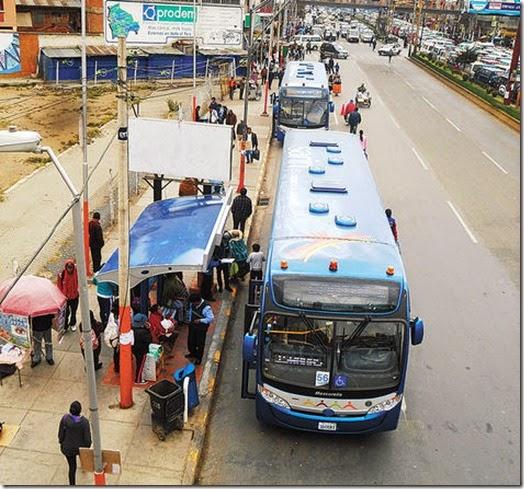 Bus Sariri en El Alto