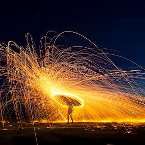 Steel wool by Mohamed Rafi - Abstract Fire & Fireworks ( rafi, steel wool, pondicherry, fireworks, long exposure, canon 550d )