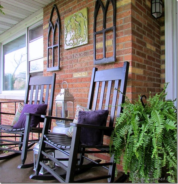 Decorating a small front porch