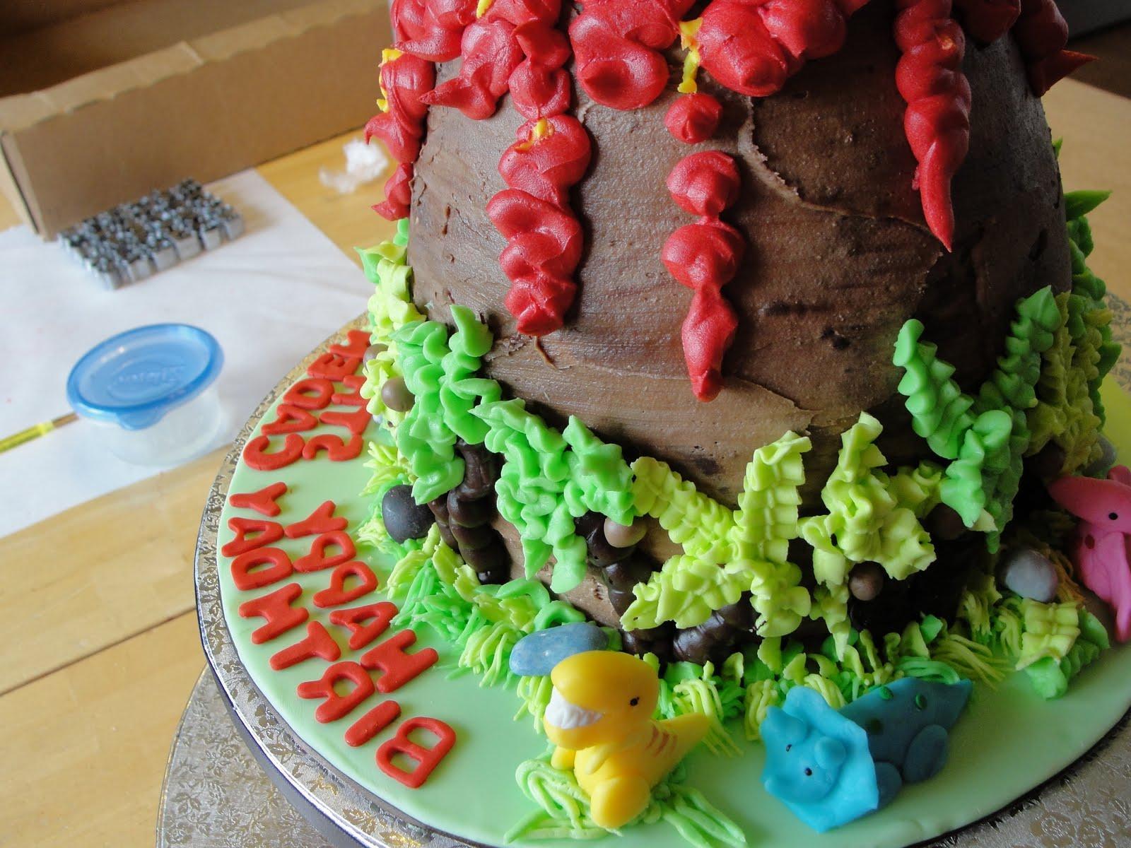 she made a volcano cake:
