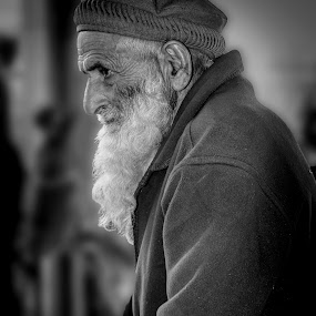 age by Maha Khan - People Portraits of Men ( pakistan, black and white, candid, people, portrait )