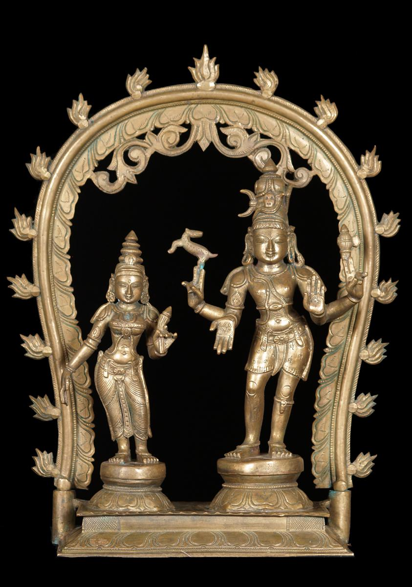 Shiva and Parvati Statue with