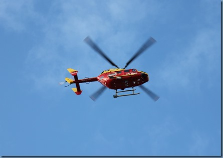rescue Helicopter leaving Wellington Hospital