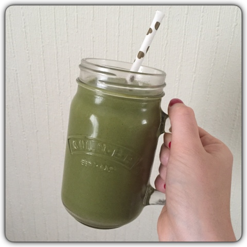 green tea protein smoothie