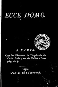 Cover of Louis Claude De Saint Martin's Book Ecce Homo (1792,in French)