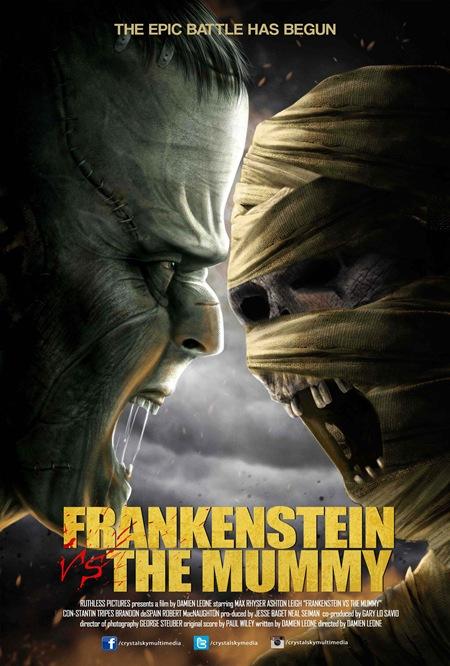 Frankenstein vs The Mummy - Poster