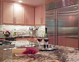 Bushman Kitchen 4 of 5 - The clients love to entertain and have many wine tastings at this spacious island.