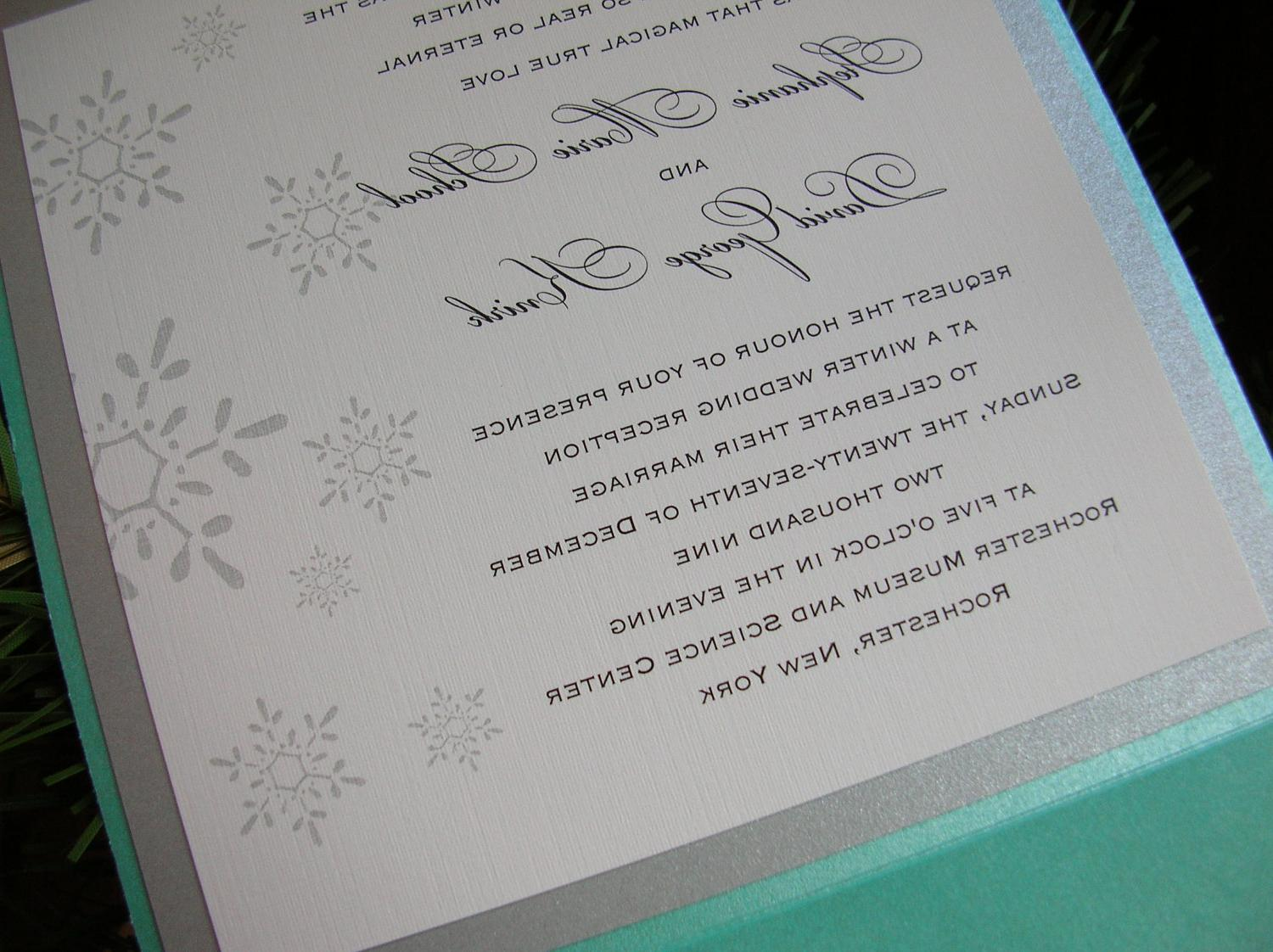 Invitation - Tiffany Blue