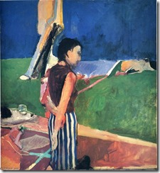 Richard-Diebenkorn-Girl-on-a-Terrace