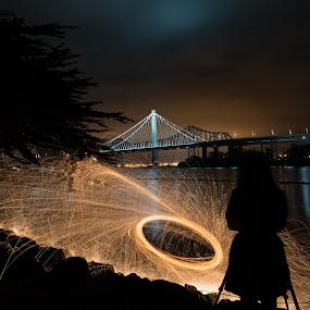 The New Bay Bridge  by George Krieger - Buildings & Architecture Bridges & Suspended Structures ( pwc75, photographer, taking photos, bridge )