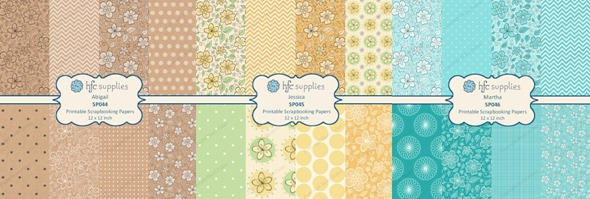 2015 April 27 Patchwork Bees Spoonflower contest floral pattern scrapbooking papers hazelfishercreations 1