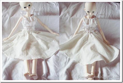 Two off-white bjd circle skirts