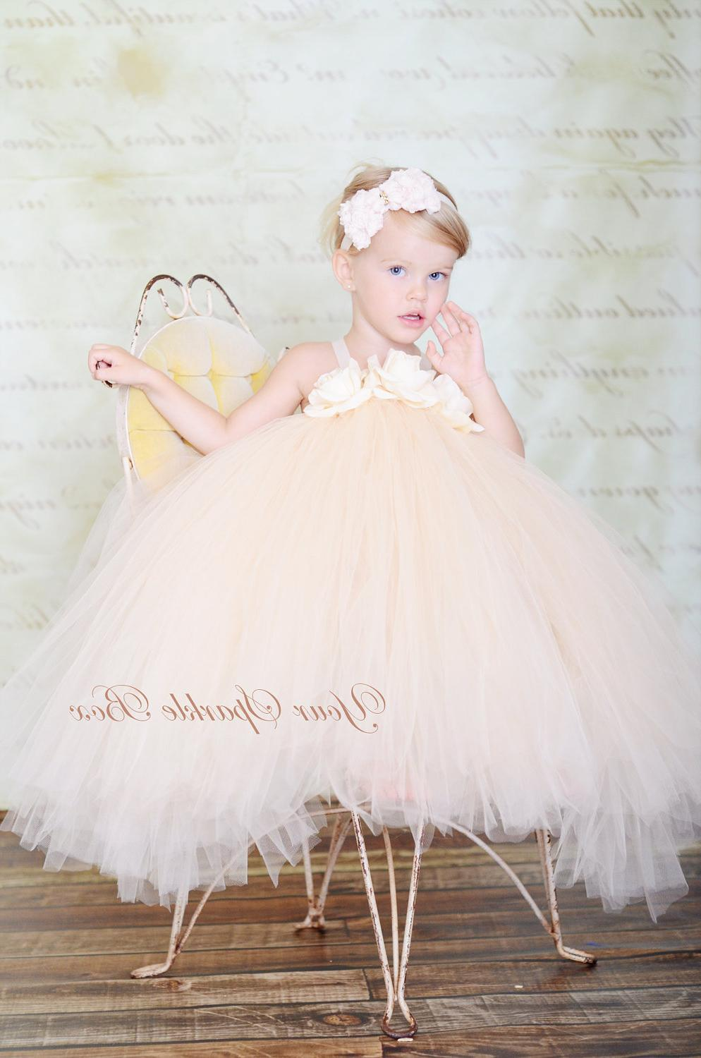 The Wedding Collection Tutu Dress in Champagne 26 - 35 inch length