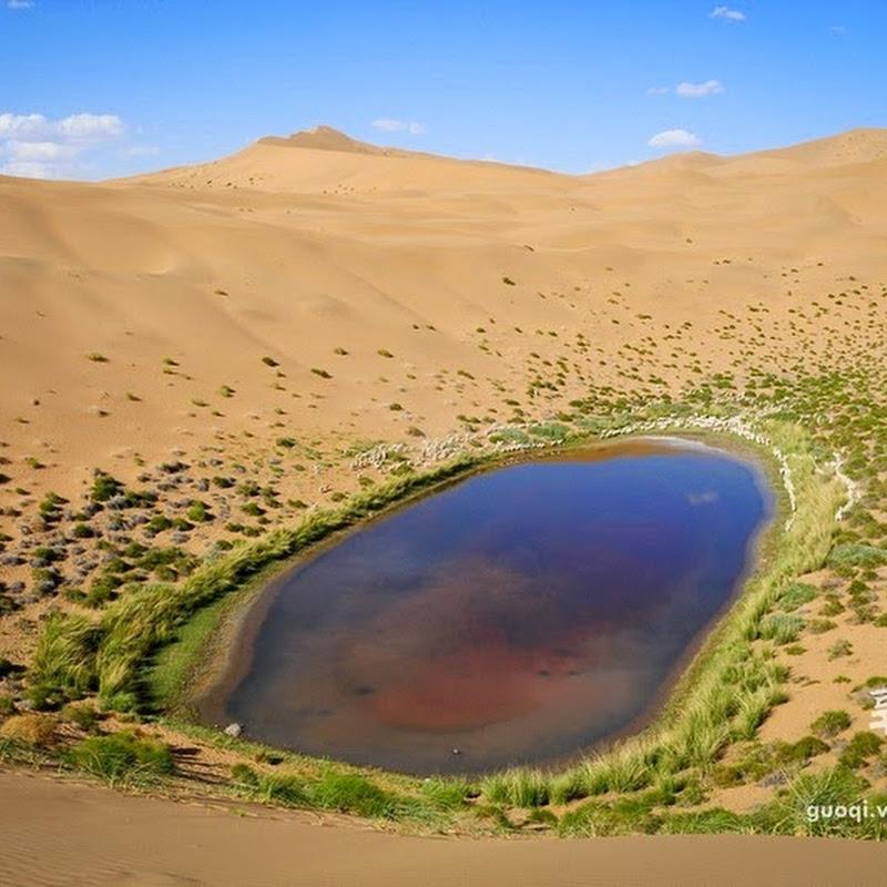 The Mysterious Lakes of Badain Jaran Desert