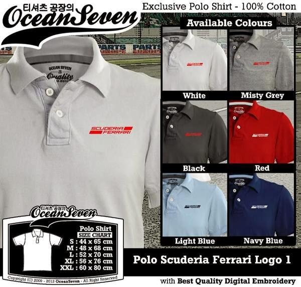 POLO Scuderia Ferrari Logo distro ocean seven