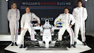 Williams Martini FW36 with drivers Susie Wolff, Valtteri Bottas, Felipe Massa and Felipe Nasr