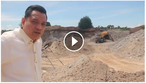 Image of Mayor Cezanne Fritz Diaz is the current mayor of Siaton in Negros Oriental uploaded videos on his Facebook account filming the truth behind the massive excavation that leads to a drastic environmental damages. It is something that has been done cannot be undone. The mayor personally visited the quarry site were heavy equipment such as excavator, bulldozer, and trucks were found. The mayor condemns the illegal activities of corrupt businessmen. Later on he recorded himself with a huge barge at the back asking for support from the his own people and government agencies. The mayor furiously named a certain individual named Bluegen Lampajo as the head person who carried out such disastrous quarry. According to Mayor Fritz Diaz, the area situation is severely damaged. The soil were harvested at the very extensive volume that even reaches the depths of 15 meters. The quarry site is located in Sitio Cama, Brgy. Malabuhan in the municipality of Siaton, Negros Oriental.