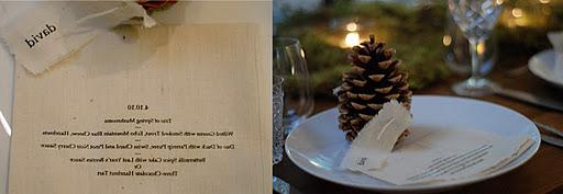 A winter wedding table setting
