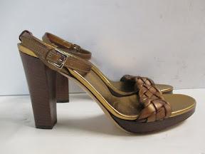 Bronze Gucci Sandals