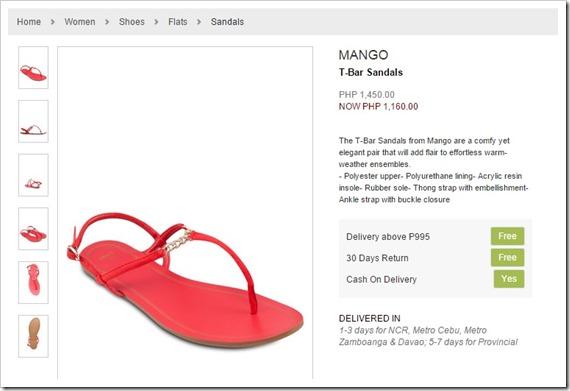 zalora sandals mango