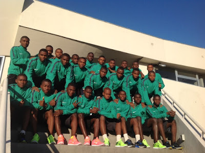 Eaglets Lamd In Buenos Aires, Begin Training