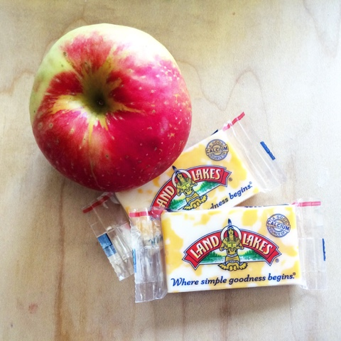 co-jack cheese and apple