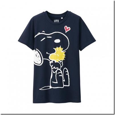 UNIQLO UT X Peanuts Movie Women Short Sleeve Graphic T-Shirt 15
