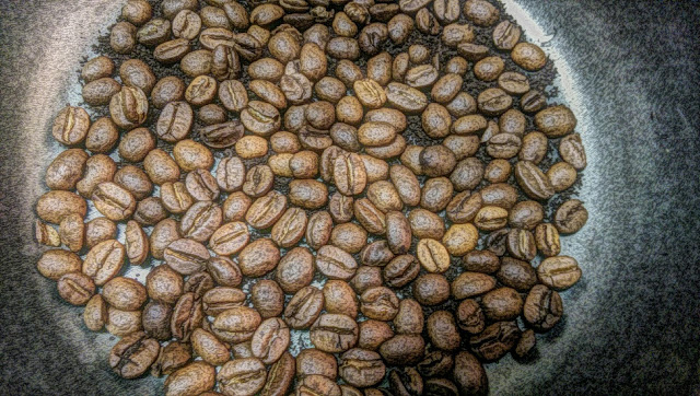 Free picture of coffee beans.  This can be used for commercial purposes as a background.