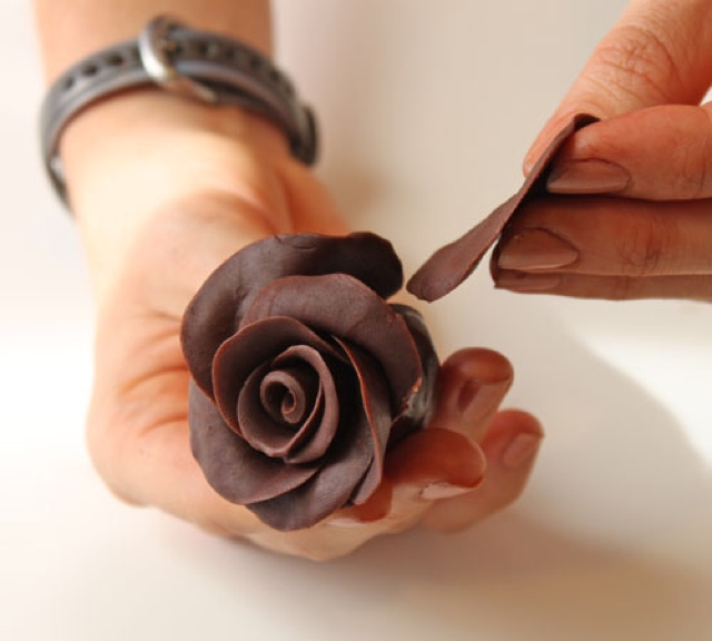 Розы из шоколада рецепт