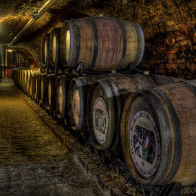 by Klaus Müller - Artistic Objects Technology Objects ( wine, cellar, barrels, brick, stone )