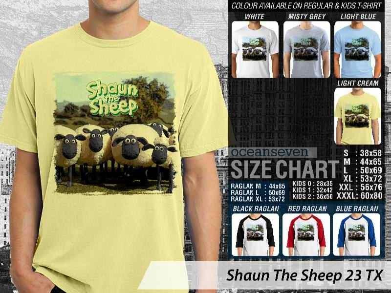 Kaos Movie Shaun The Sheep 23 distro ocean seven