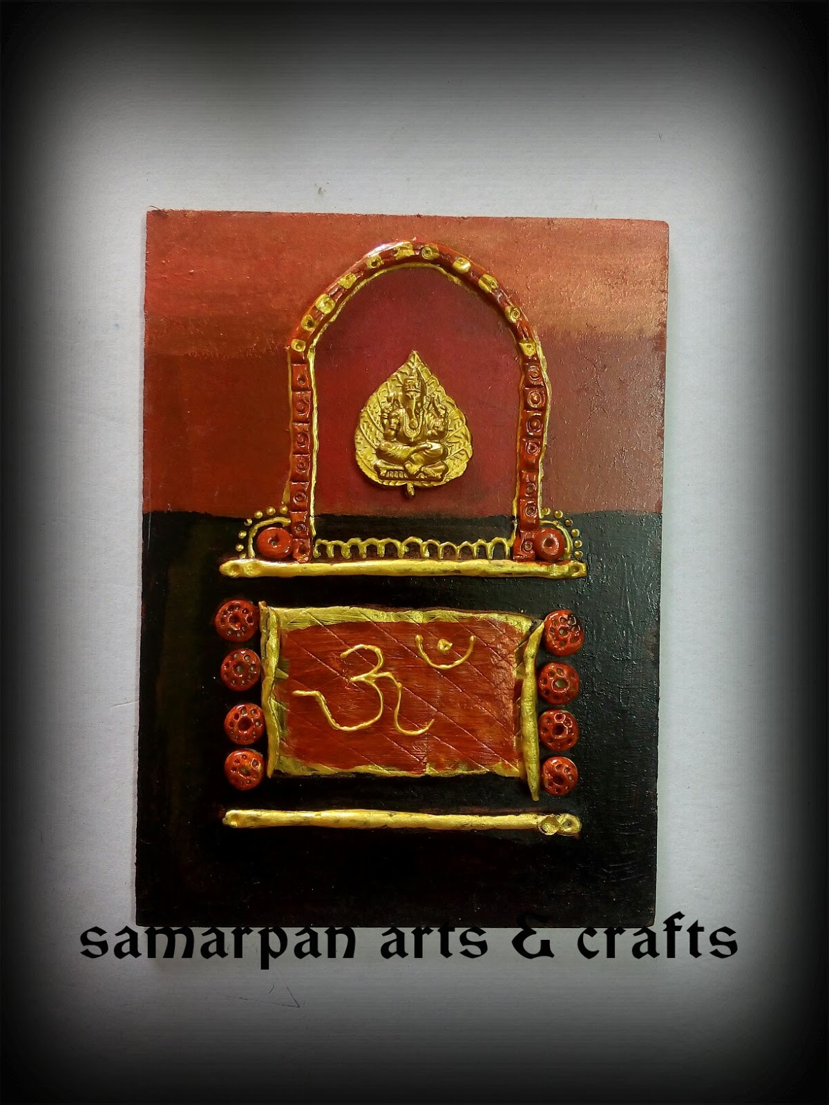 I Have Made This Beautiful Wall MuralThe Colors Used Are Copper And BlackFEVICRYL HOBBY IDEAS Enhanced With 3doutliner